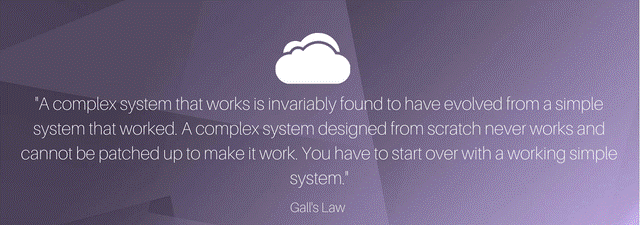 Law 2: Gall's Law