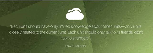 Law 3: . Law of Demeter