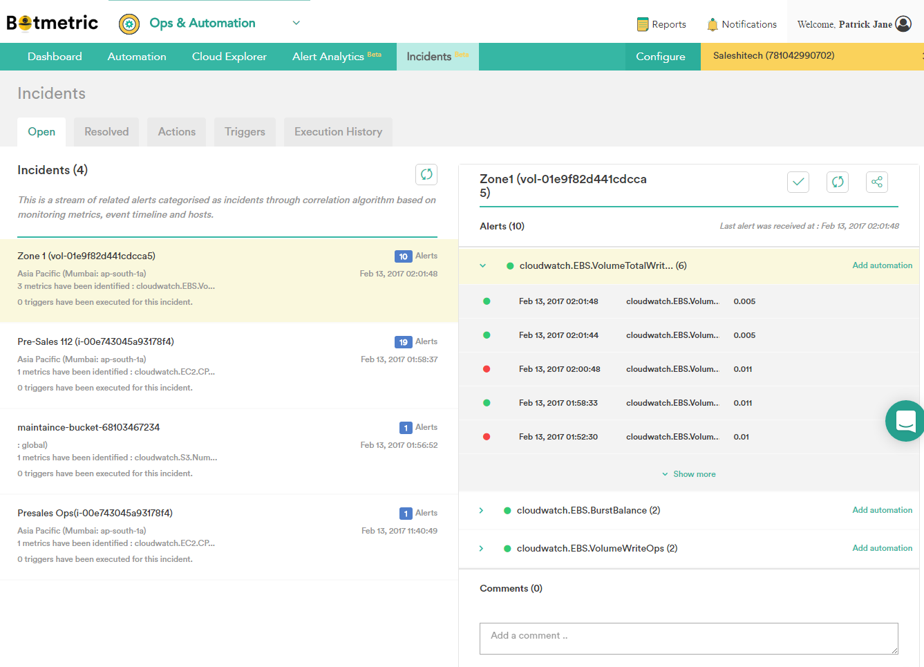 Embark on a NoOps Journey: Mitigate Alert Fatigue with Botmetric Incidents, Actions, & Triggers