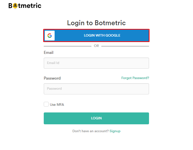 Botmetric Now Features Single-Sign on Social Login Button