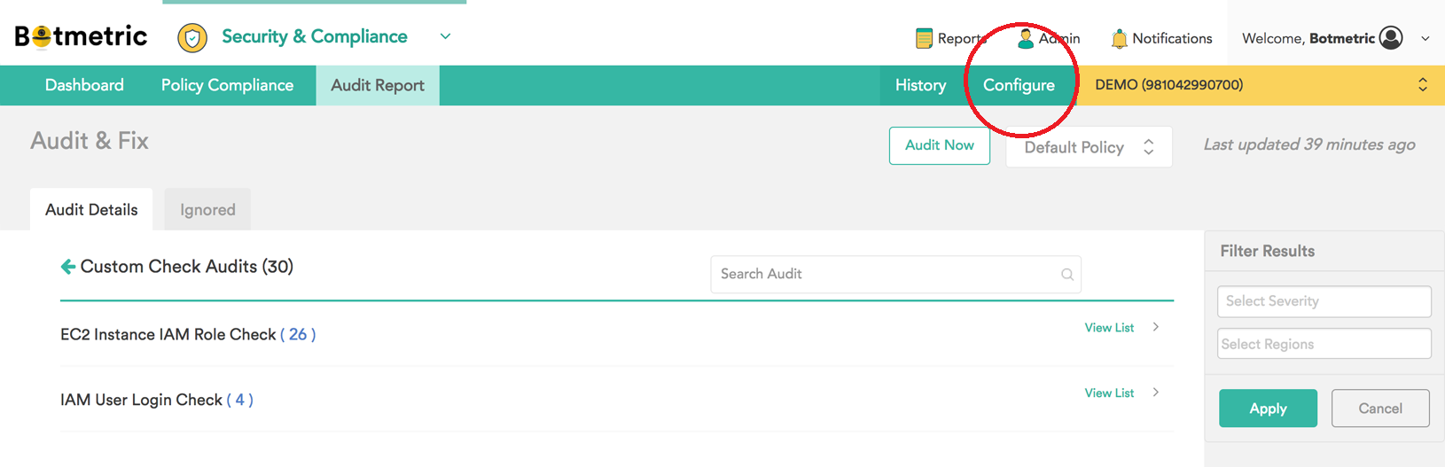 Botmetric Custom Audits