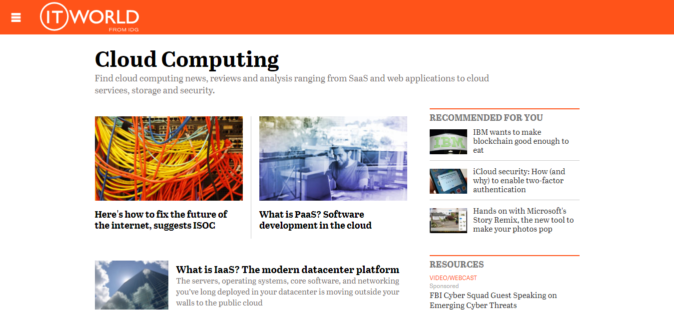 ITWorld - Cloud Computing