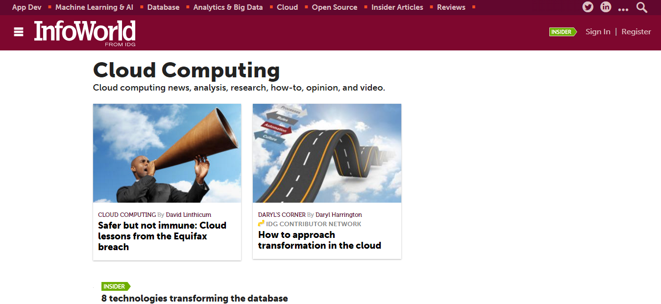Infoworld Cloud Computing